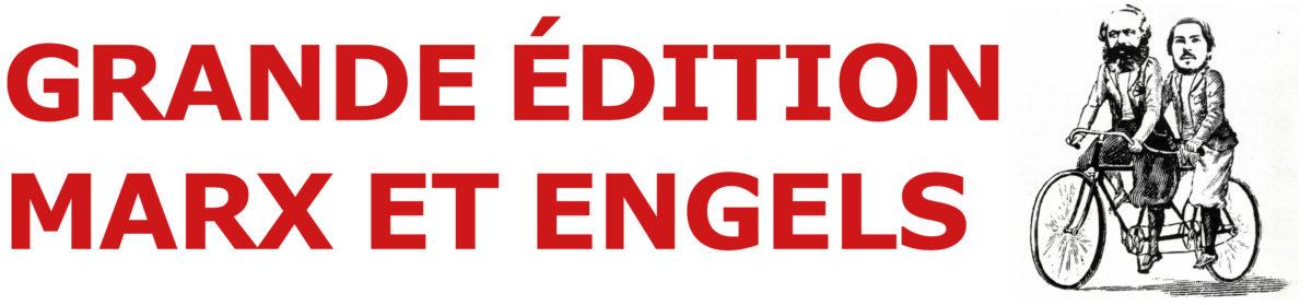 Grande édition Marx et Engels – GEME